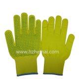 Le PVC en nylon coloré de gants a pointillé le gant de travail de sûreté de gants de jardin