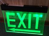 Iluminación verde/roja de la salida de emergencia de la salvaguardia de batería recargable