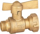 Valvola di angolo d'ottone del cavo del metro ad acqua (A. 0122)