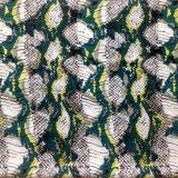 Cdc de seda impresso em Snake Skin Design