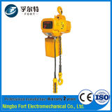 Iso Certification Yellow 2t Construction Mini Electric Chain Hoist Block (HET02-01)