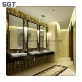 Espelho redondo do banheiro com armação de aço inoxidável