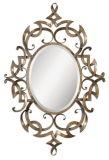 Зеркало рамки богато украшенный античного листового золота Yolitehome законченный для домашнего украшения