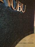 Azulejo negro del guijarro del mosaico para la decoración casera