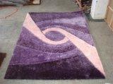Manta 100% de área de seda de la alfombra de Polyest del azulejo de la alfombra de la materia textil