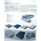 Klassisches graues Aluminiumbienenwabe-Sandwich-Panel-Fassade-System