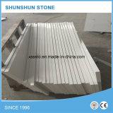 Bancada branca de pedra artificial de quartzo ou bancada da cozinha