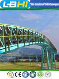 Sistema de transporte de correia curvado interurbano do Típico-Projeto alta tecnologia
