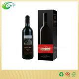 Flaschen-Rotwein-verpackenkasten der Offsetdrucken-Pappe750ml mit Kappen (CKT-PB-29)