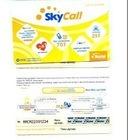 전화에 의하여 선불되는 카드를 위한 찰상 플라스틱 카드
