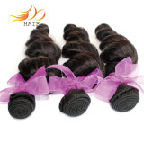 卸売100%のベトナム人のバージンの人間の毛髪の緩い波の倍のよこ糸の毛