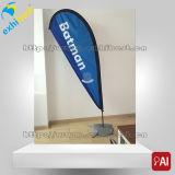 Изготовленный на заказ двойной напечатанное стороной знамя флага летания Teardrop пера флага пляжа