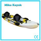 Canoa della plastica dei 3 della persona dell'oceano di Whitewater pescherecci del kajak