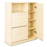 El múltiplo funciona la cabina de madera del zapato (WS16-0249)