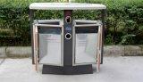 Cubo de basura al aire libre vendedor caliente con la madera plástica (HW-D02A)