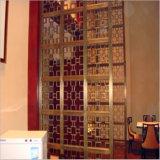 Pantalla de gama alta de encargo profesional del colgante de pared de la sala de estar del pasillo del color, el panel de pared de la pantalla de la partición del metal de hoja de acero inoxidable