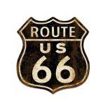 Знак металла таможни трассы 66 верхнего качества для украшения стены