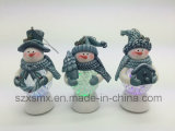 Boneco de neve Series Ornament Hanging Decorations Polymer Clay Craft com boneco de neve do diodo emissor de luz