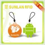 Unregelmäßige ISO14443A NFC RFID intelligente Marke mit gelochtem Loch