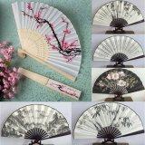 Form-Fertigkeit-empfindliche Kirschblüten-Entwurfs-Seide-bevorzugt faltende Fan-Hochzeit chinesischem Farbanstrich Handfertigkeit-Ventilatoren