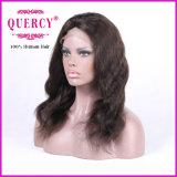 Peruca brasileira do laço da parte dianteira do cabelo humano do Virgin da onda natural na cor natural