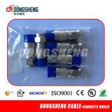 Conectador del cable coaxial RG6