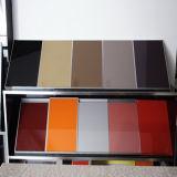 Glossy UV fait sur commande Kitchen Cabinet Door avec Aluminium Edge
