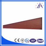 Perfil de madeira da grão da liga de alumínio para a cerca