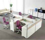 木のオフィス用家具6つのシートL形のオフィスの区分ワークステーション(SZ-WST649)