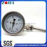 ステンレス鋼のバイメタル温度計