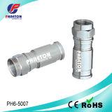 Conetor de cabo da compressão de Rg59 RG6 para o cabo coaxial (pH6-5008)