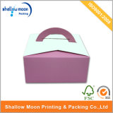 Handle (QYZ021)のカスタマイズされた4 Color Printing Cake Paper Box