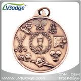リボンの締縄が付いている熱い販売のカスタムメダル