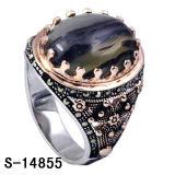 공장 새로운 디자인 925 순은 남자 반지 2 색깔 도금