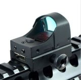 Tactical Mini Compact Holographic Reflex Micro Red DOT Sight Escopo para Rifle & Pistol