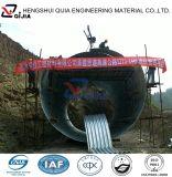 Alcantarilla acanalada del tubo del metal del diámetro grande a partir de la fábrica de 10 años