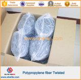Hormigón con fibras de polipropileno trenzado de fibra en lugar de fibra de acero