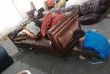 Sofa sectionnel en cuir de portée du contemporain deux réglé pour la maison (GLS-020)