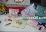 Beautifull Kissen-Geschenk-Papierkasten mit Farbband