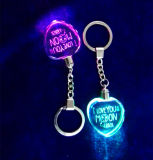 심혼 Shape Crystal Keychain, Gifts를 위한 LED Light Glass Keychain