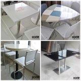 高い上表および椅子の円形の固体表面のコーヒーテーブル