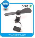 Het Laden USB van de Krachtbron van de batterij Dubbele Versie de Stille Ventilator van de Ventilator USB MiniVentilator