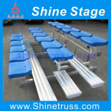 Anfiteatro, assento dos Bleachers para o jogo de basquetebol, jogo de futebol