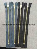 Латунная застежка -молния конца конца застежки -молнии металла 4# для джинсыов