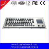 Clavier lumineux industriel en métal raboteux avec le touchpad (MKB-64A-TP-BL)