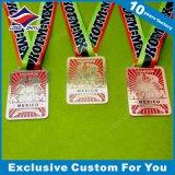 Médailles en alliage de zinc de récompense de rectangle fait sur commande
