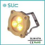 6 * 3W color completo cambiar la fuente subacuática LED impermeable luz