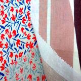 Ropa impresa el Linen55%/Cotton45%/tela de materia textil casera