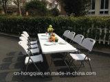 طاولة خارجيّ خاصّة إستعمال وبلاستيك [هدب] معدنة مادة [8فت] طاولة وكرسي تثبيت