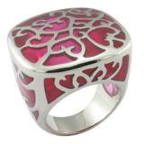 Ringen van het Email van de fabriek de In het groot Roze